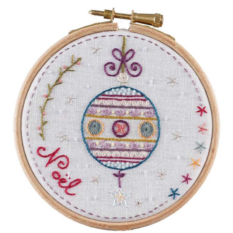 アンシャダンレギュイユ 刺繍キット 刺繍枠付き