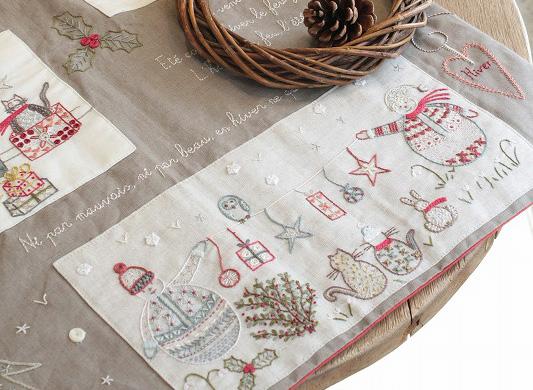 クリスマスの刺繍飾りは早めにスタート!アンシャダンレギュイユ 刺繍キット